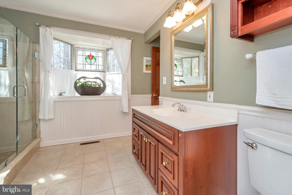 Master bath full of natural light - 128 HARRISON CIR, LOCUST GROVE
