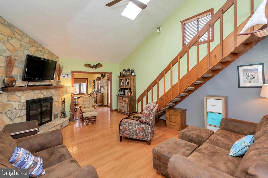 Cozy up around the fire with a good book - 128 HARRISON CIR, LOCUST GROVE