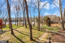 Flat yard leading to the water - 128 HARRISON CIR, LOCUST GROVE
