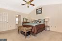 Master bedroom with vaulted ceilings - 115 BOSC CT, THURMONT