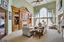 2 story coffered ceiling & large built-in - 5916 DEEP CREEK DR, FREDERICKSBURG