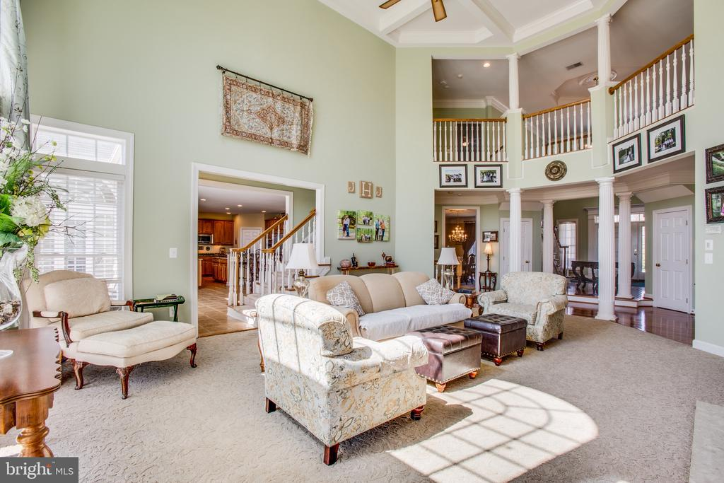 Overlook the great room from the 2nd floor - 5916 DEEP CREEK DR, FREDERICKSBURG