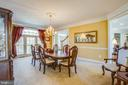 Elegant dining room w/  crown molding & chair rail - 5916 DEEP CREEK DR, FREDERICKSBURG