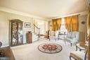 Step down from foyer into formal living room - 5916 DEEP CREEK DR, FREDERICKSBURG