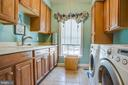 Laundry room w/ workspace, sink & lots of storage - 5916 DEEP CREEK DR, FREDERICKSBURG