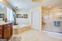 His/her vanities, double shower, corner tub - 5916 DEEP CREEK DR, FREDERICKSBURG