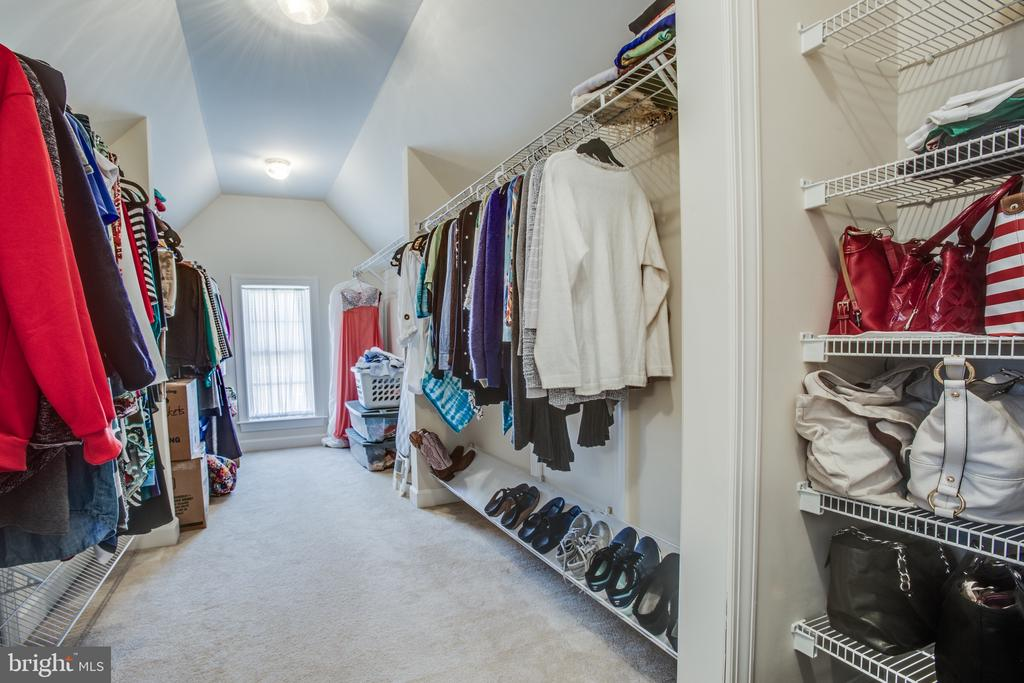 Just one of two walk-in closets in Master suite - 5916 DEEP CREEK DR, FREDERICKSBURG