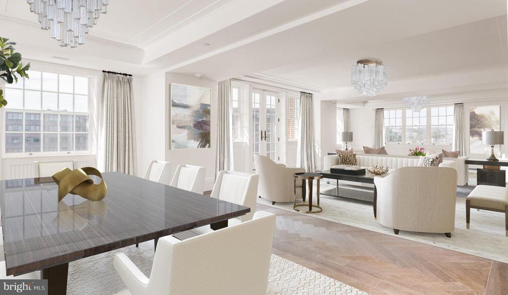 Dining Area with Monument Views - 2660 CONNECTICUT AVE NW #PH 3, WASHINGTON