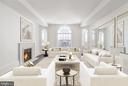 Den offers Palladian window and fireplace - 2660 CONNECTICUT AVE NW #PH 3, WASHINGTON