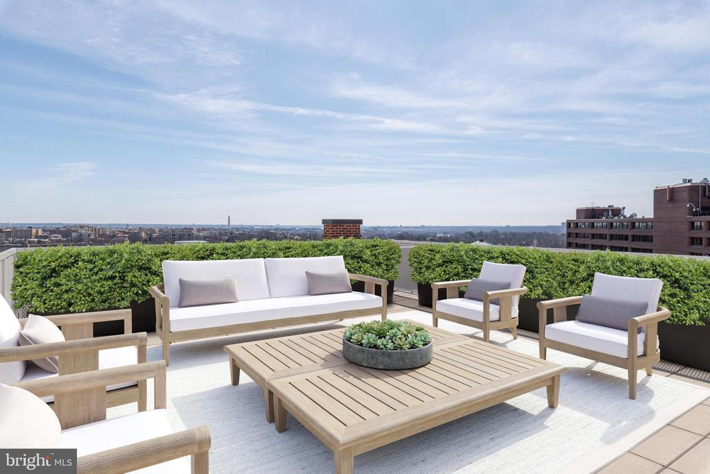 Private Rooftop Terrace with Panoramic Views - 2660 CONNECTICUT AVE NW #PH 3, WASHINGTON