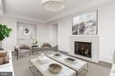 Refined Library with Wet Bar - 2660 CONNECTICUT AVE NW #7B, WASHINGTON