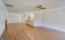 Crown Molding and Hardwood in Family Room - 336 WINDERMERE DR, STAFFORD