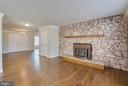Huge Stone Fireplace in Private Office/Study - 336 WINDERMERE DR, STAFFORD
