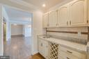 Butler's Pantry with Wine Rack - 336 WINDERMERE DR, STAFFORD
