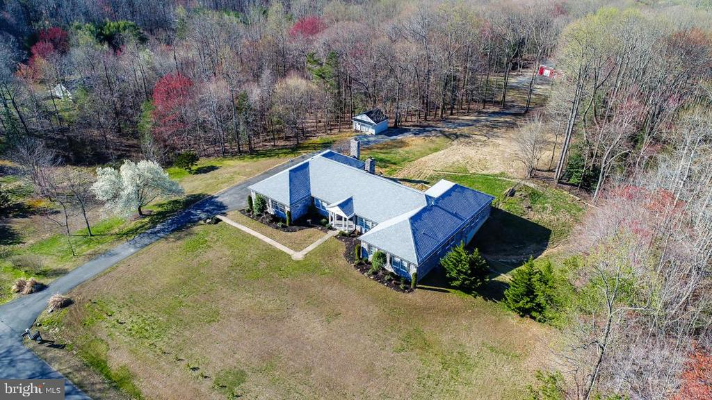 Aerial- 10+ Acres! Cleared 3 Acres for Livestock - 336 WINDERMERE DR, STAFFORD