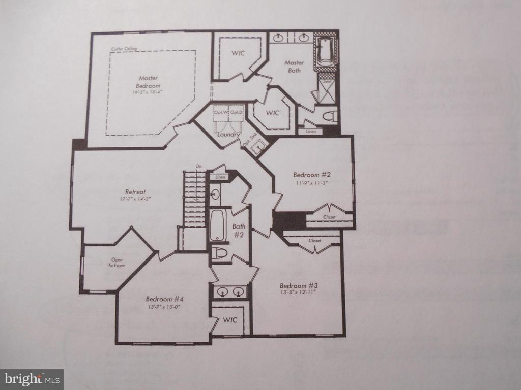 UPPER LEVEL FLOOR PLAN - 42518 STRATFORD LANDING DR, BRAMBLETON