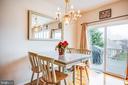 Dining area in Great Room, Deck w/ view - 25 BUCHANAN CT, FREDERICKSBURG