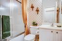Guest Bath, ceramic tile floor - 25 BUCHANAN CT, FREDERICKSBURG