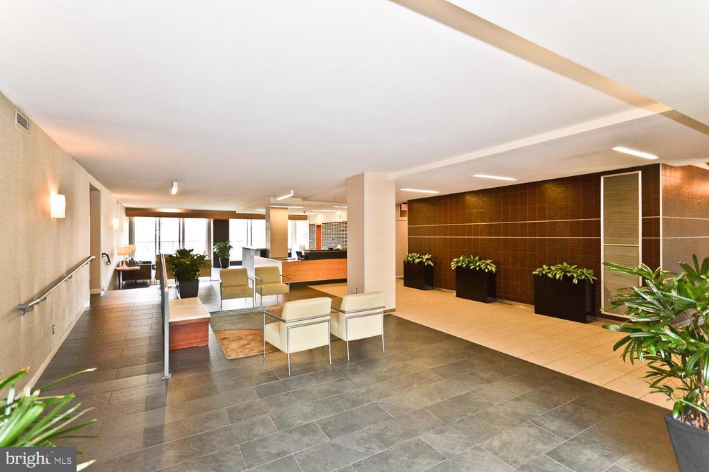 Building lobby - 2939 VAN NESS ST NW #807, WASHINGTON
