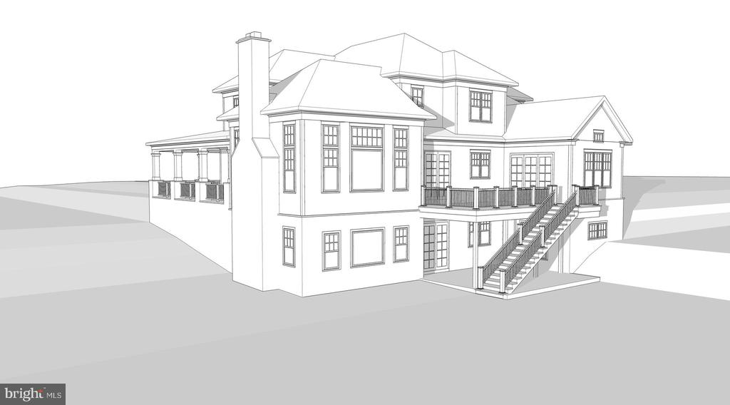Rear Rendering Showing Deck and Walk Out Patio - 8187 PETERS RD, FREDERICK