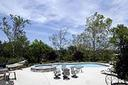 Pool and spa view - feel the serenity and nature - 17160 SPRING CREEK LN, LEESBURG