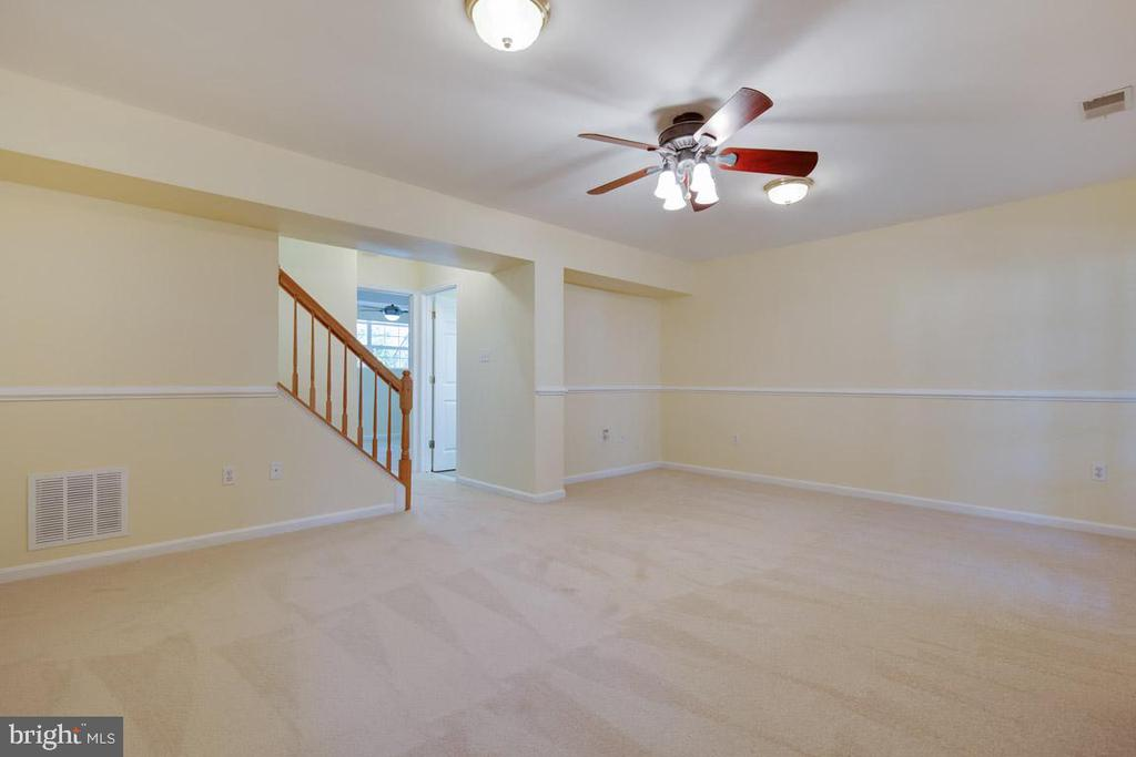 Recreation rm in fully finished walk-out basement - 11058 DOUBLEDAY LN, MANASSAS