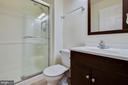 Full bath in basement - 11058 DOUBLEDAY LN, MANASSAS