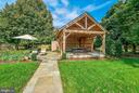 Pavilion with outdoor shower - 35422 PAXSON RD, ROUND HILL