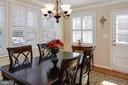 Dining room with access to huge deck & back yard - 4651 STRATHBLANE PL, ALEXANDRIA
