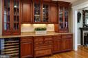 Built in buffet/wine bar - 4651 STRATHBLANE PL, ALEXANDRIA