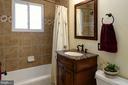 Remodeled hall bath with designer fixtures - 4651 STRATHBLANE PL, ALEXANDRIA