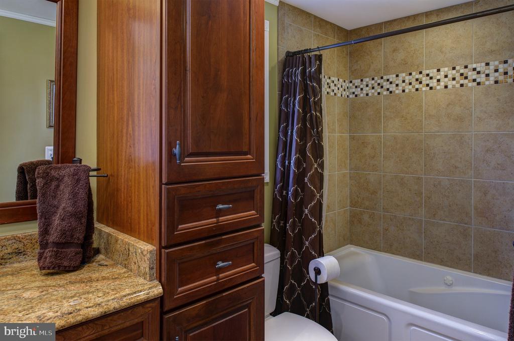 Hall bath with custom cabinetry - 4651 STRATHBLANE PL, ALEXANDRIA