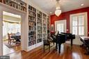 Built-in Bookcases in Foyer Library. - 2010 FALL HILL AVE, FREDERICKSBURG