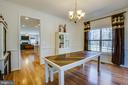 The large dining room is right off the kitchen - 512 RICHARDS FERRY RD, FREDERICKSBURG