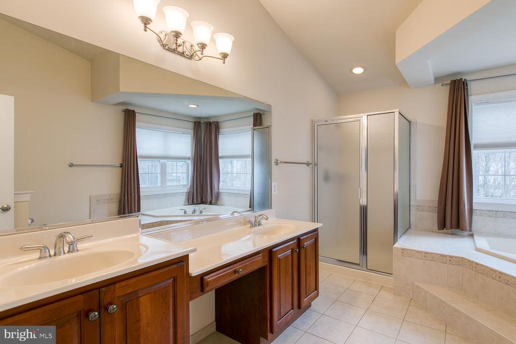 Master bath with double vanity - 6 NOAHS CT, STAFFORD