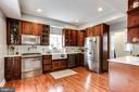 Renovated kitchen. - 4601 QUEENSBURY RD, RIVERDALE