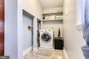 Laundry nook. Combined washer/dryer. - 4601 QUEENSBURY RD, RIVERDALE