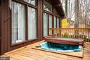 Back deck - 3704 LAKEVIEW PKWY, LOCUST GROVE