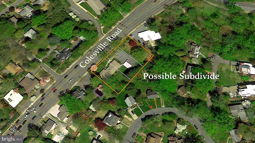Subdivideable into 2-5 lots - 9221 COLESVILLE RD, SILVER SPRING
