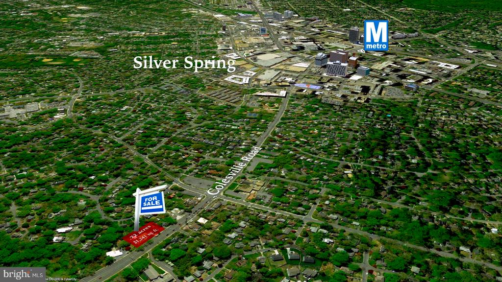 Only 1.5 miles (about 23 min walk) to metro - 9221 COLESVILLE RD, SILVER SPRING