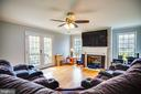 Family Room w/ Gas Fireplace - 13412 FOX CHASE LN, SPOTSYLVANIA