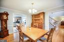 Formal Dining Room - 13412 FOX CHASE LN, SPOTSYLVANIA