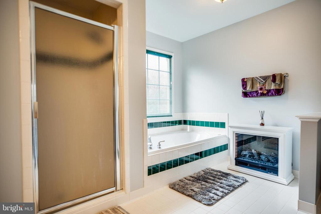 Master Bathroom Soaking Tub & Shower - 13412 FOX CHASE LN, SPOTSYLVANIA