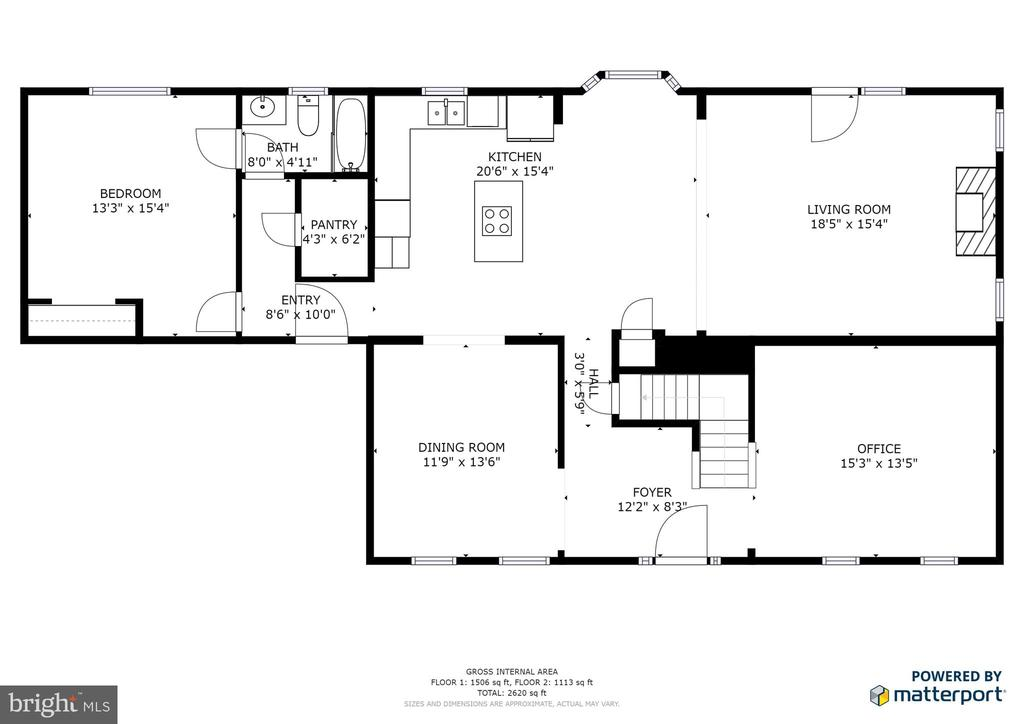 Main Level Floor Plan - 13412 FOX CHASE LN, SPOTSYLVANIA