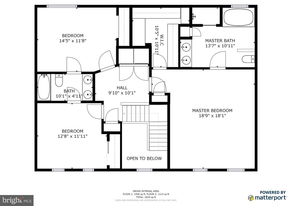 Upstairs Floor Plan - 13412 FOX CHASE LN, SPOTSYLVANIA