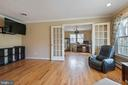 Living Room with French Doors. - 15520 JONES LN, GAITHERSBURG