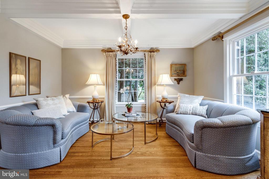 Formal Living Room w Coffered Ceiling - 3216 N ABINGDON ST, ARLINGTON