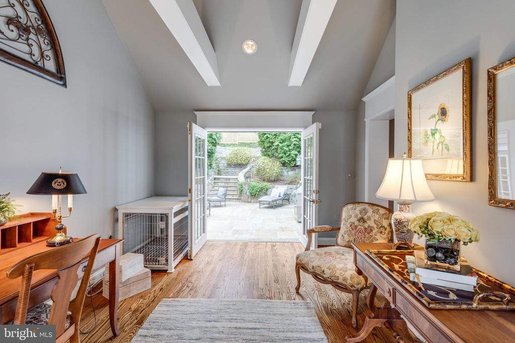 Step Through the French Doors to Flagstone Patio - 3216 N ABINGDON ST, ARLINGTON