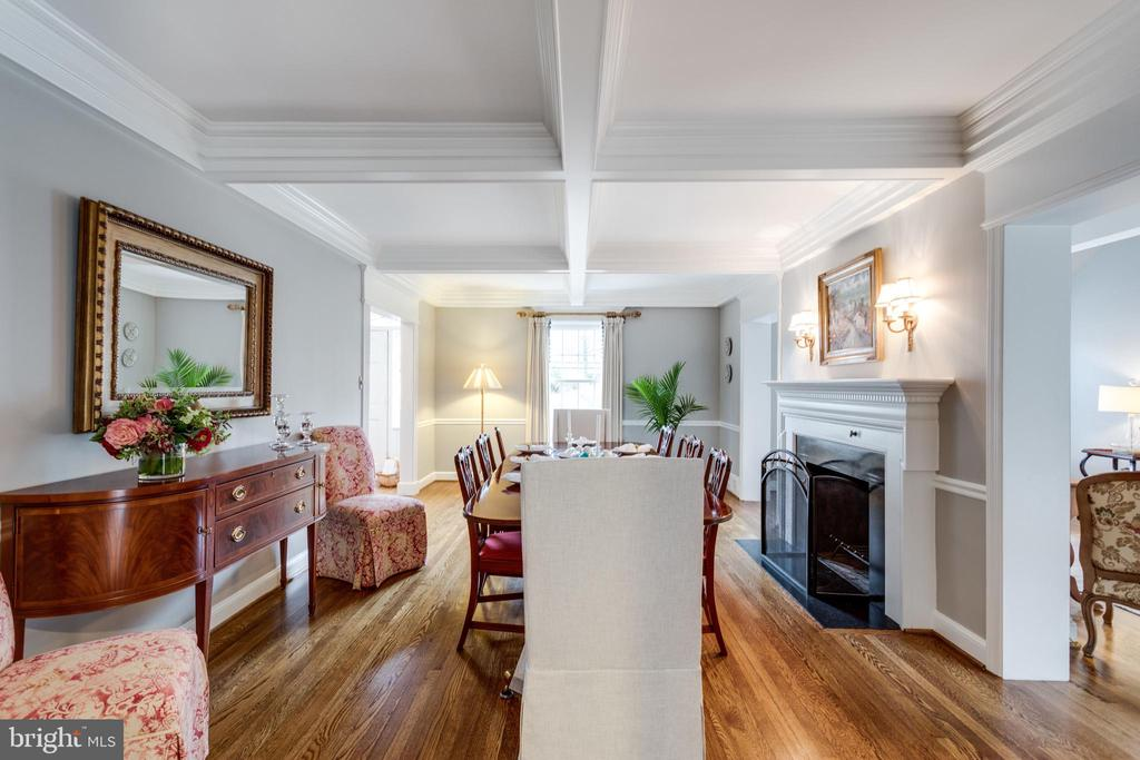Formal Dining Room with Wood Burning Fireplace - 3216 N ABINGDON ST, ARLINGTON