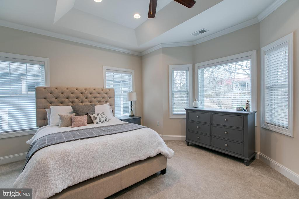 Master bedroom with tray ceilings - 225 CHARLES ST, FREDERICKSBURG